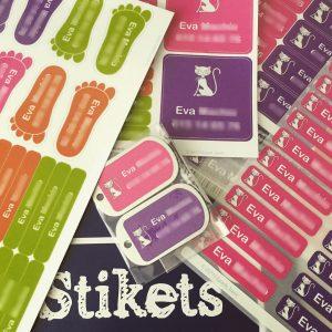 pack de etiquetas personalizadas
