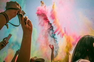 holi festival colores