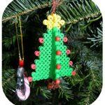 hama beads adornos navidad arbol 3d