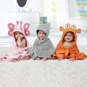 capas de baño con diseños de animales