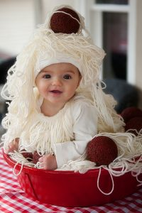 disfraz de plato de espaguettis