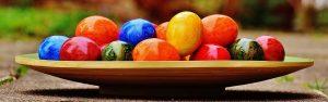 vacaciones de semana santa con niños huevos de pascua decorados
