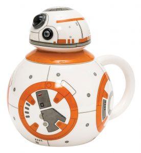 Taza con tapa del droide bb8 star wars